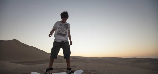 Sand boarding on Ica