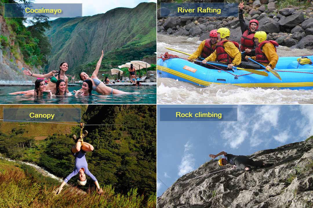 Santa Teresa - Cocalmayo - River rafting - Canopy - Rock climbing