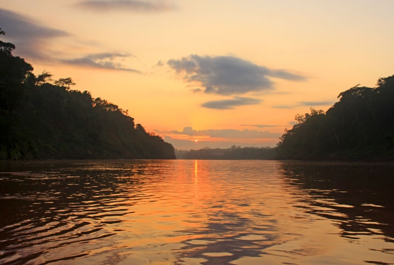 Morning on the Tambopata, Madre de Dios, Peru