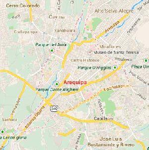 Mapa de la ciudad de Arequipa