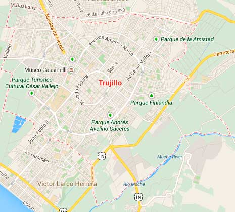 Map of Trujillo