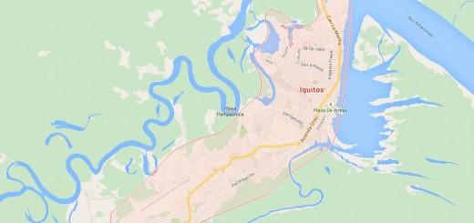 Map of Iquitos - Loreto
