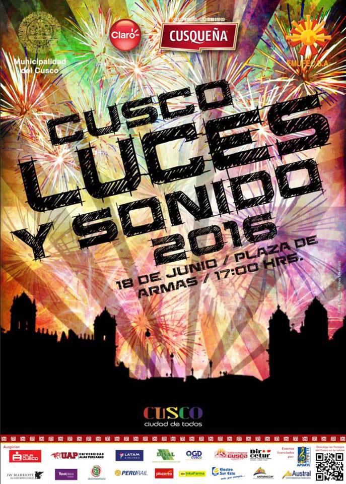 Cusco Noche de Luces y Sonido 2016