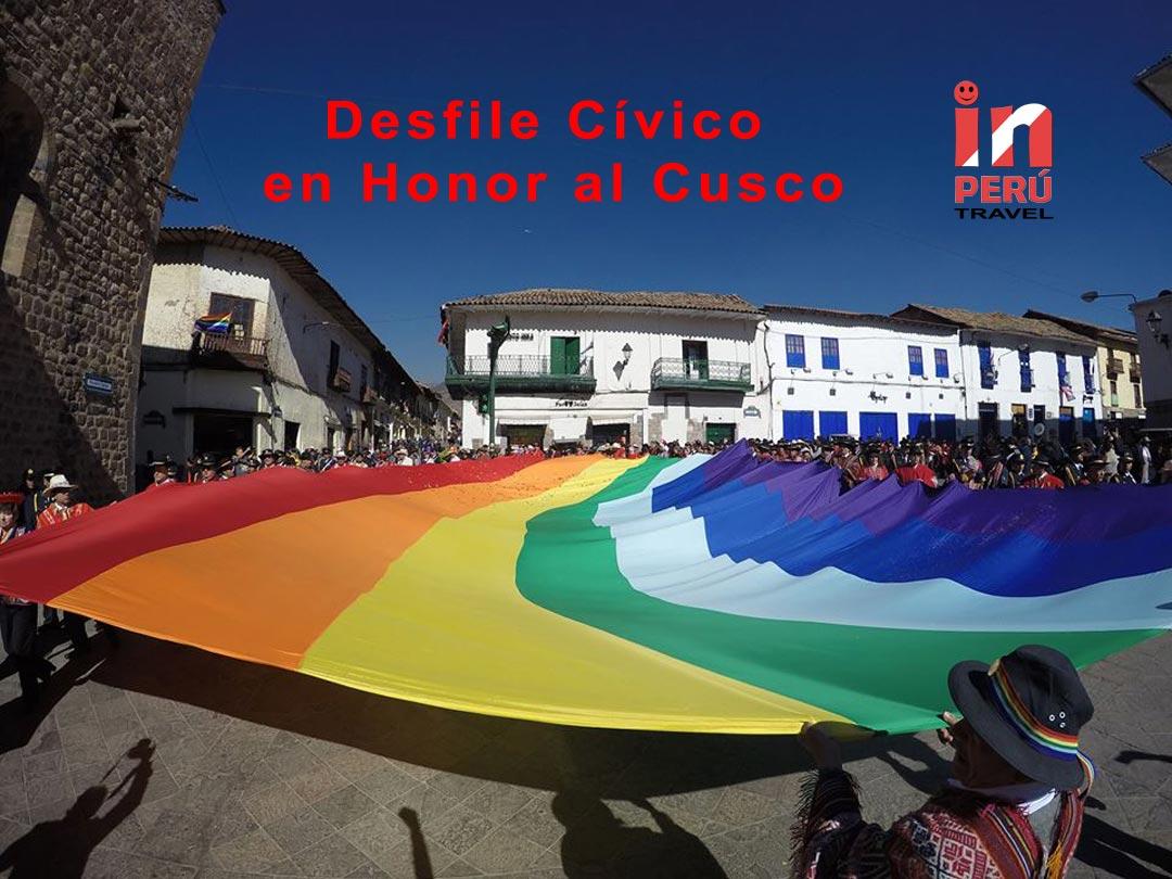 Desfile Cívico en Honor al Cusco 2016