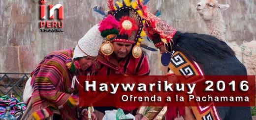 Haywarikuy 2016 - Ofrenda a la Pachamama